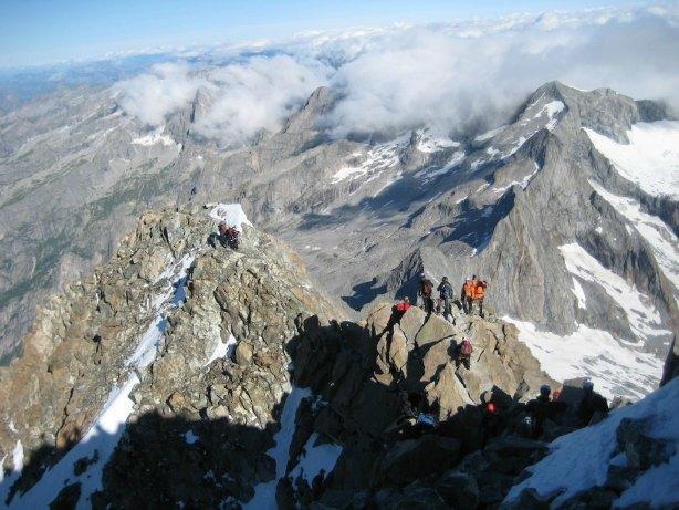 La cresta da arrampicare per scalata Monte Disgrazia (foto CAI SONDRIO)