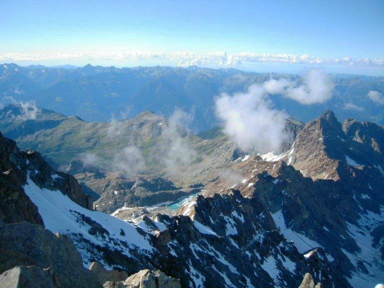 Vista dalla cima del Monte Disgrazia