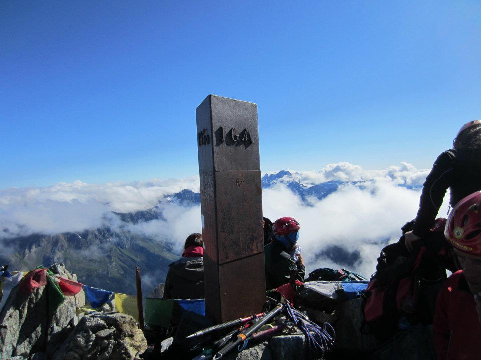 Vista della cima del Monte Disgrazia