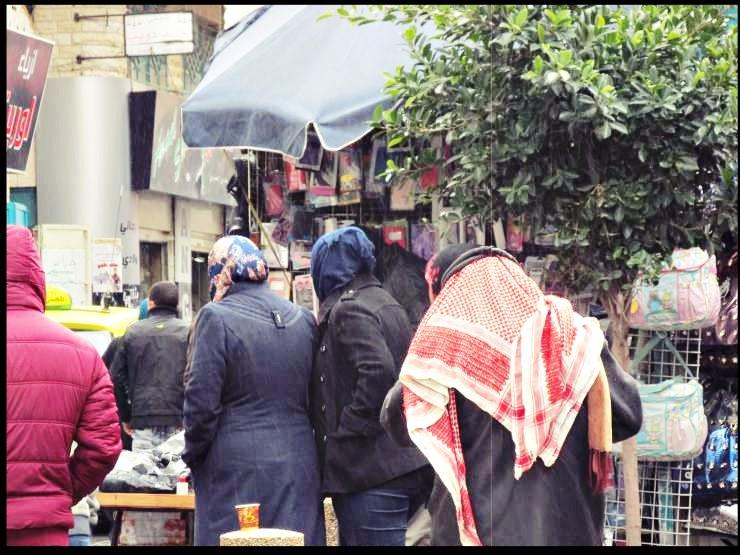 betlemme persone per strada