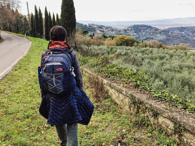 Via Degli Dei cammino zaino