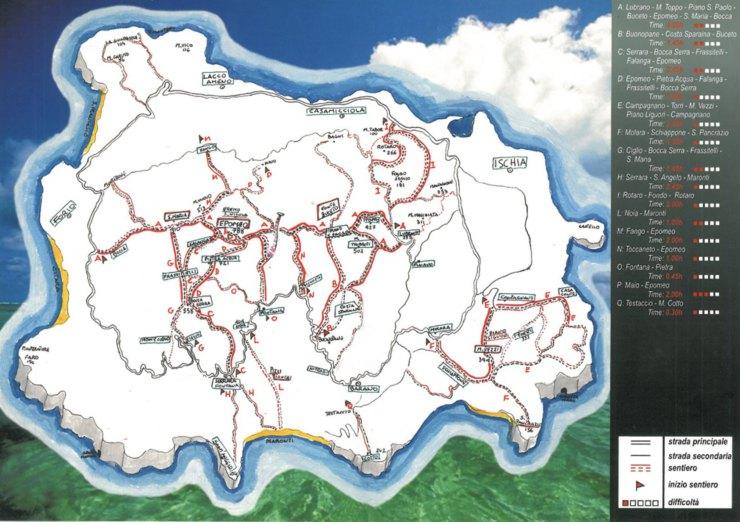 trekking Ischia mappa