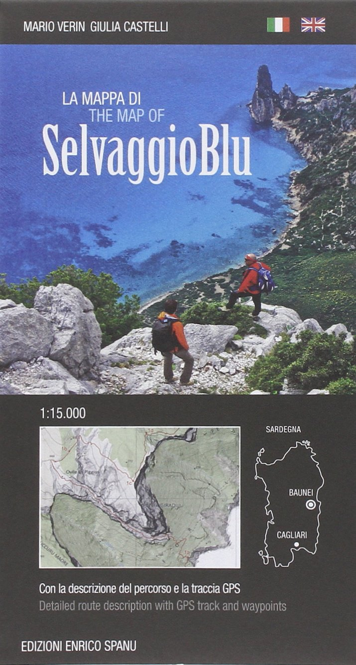 trekking Sardegna mappa selvaggio blu