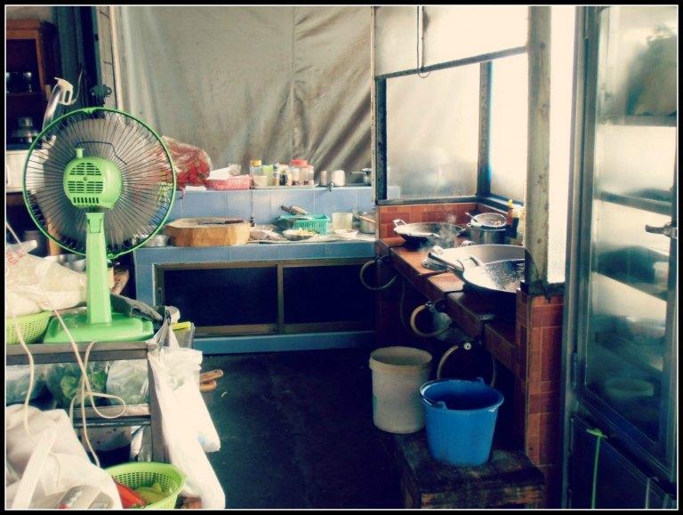 Cucina ristorante Aranya Prathet, confine Poipet