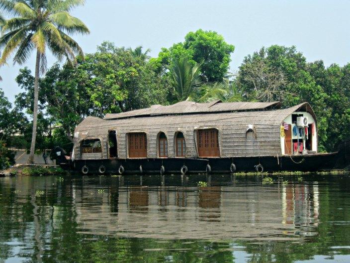 L'houseboat su cui viaggiavamo, Kerala