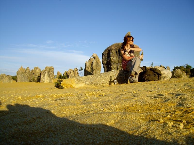 Pinnacles Desert, la birra e il tentativo di scacciare le mosche...
