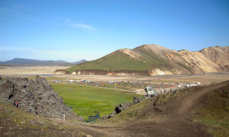Landmannalaugar view camping