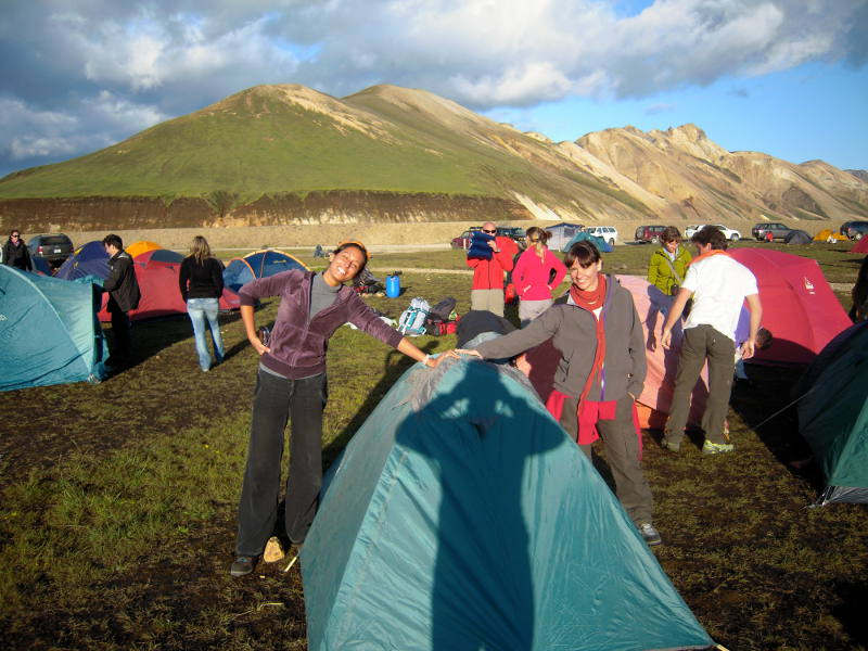 campeggio Landmannalaugar fringeintravel