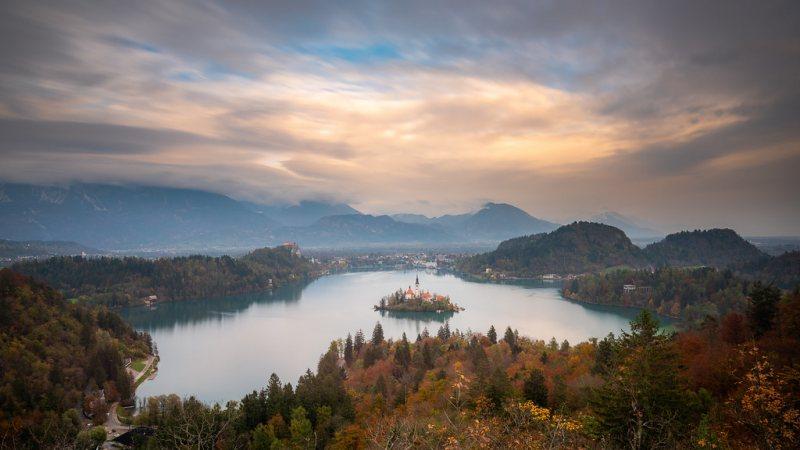 lago di bled dall alto