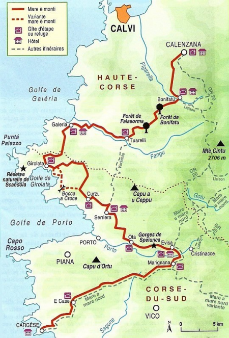 trekking corsica