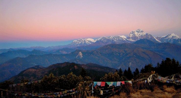 zaino per andare a fare trekking in nepal