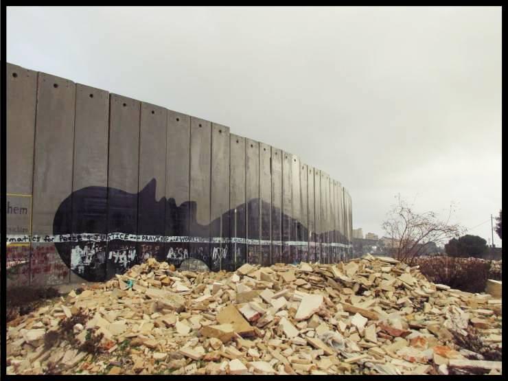 Betlemme muro che divide Israele dalla Palestina