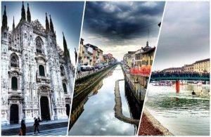 collage foto trasferirsi a milano