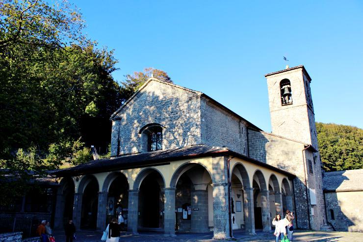 cammino di san francesco partenza la Verna santuario