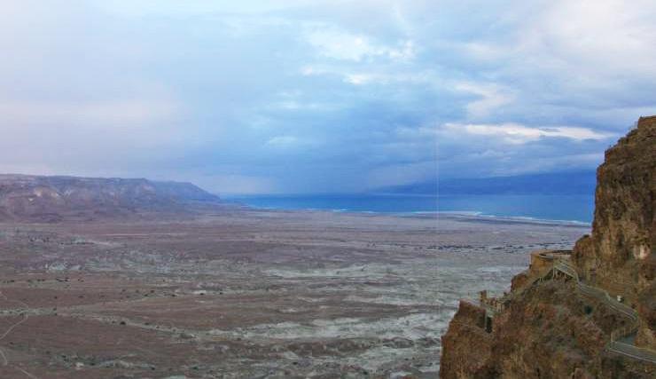 Alba sul mar morto masada