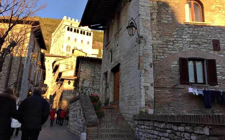 Gubbio, viette interne