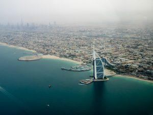 Dubai panorama dall'alto