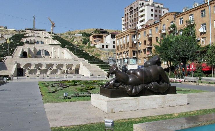 Yerevan, la cascata