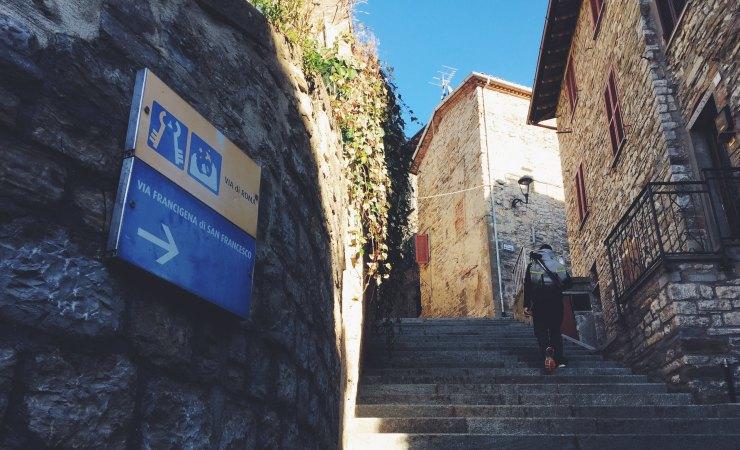 cammino di san Francesco segnaletica