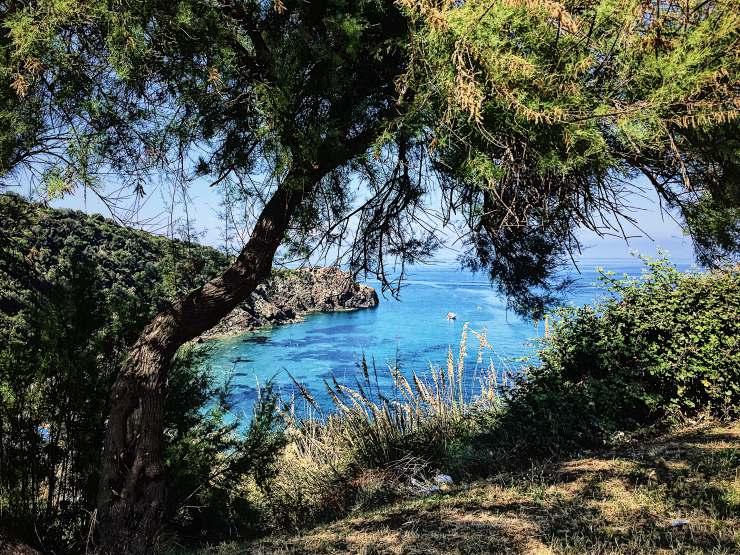 Trekking in Toscana vista mare