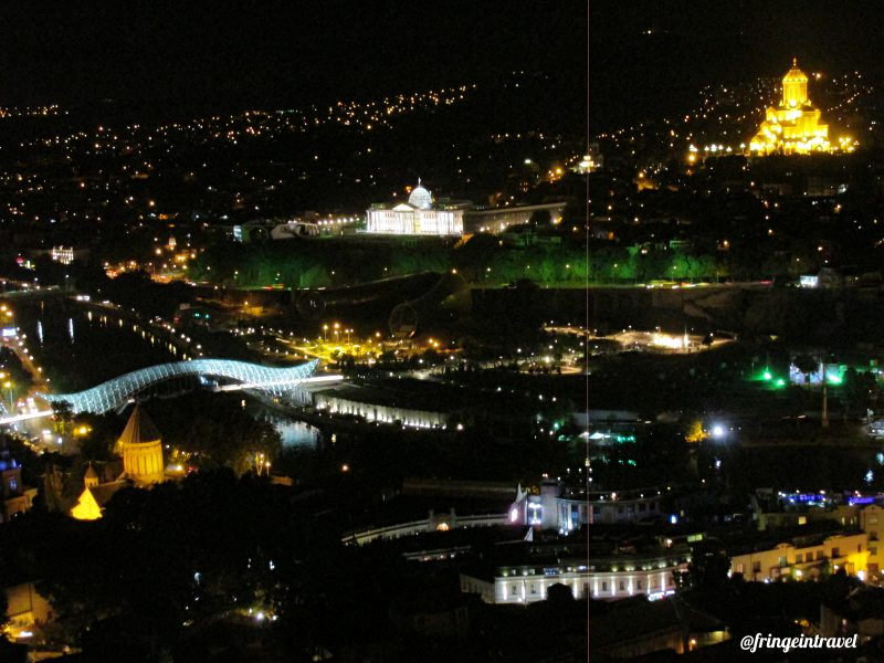 Veduta serale sulla città