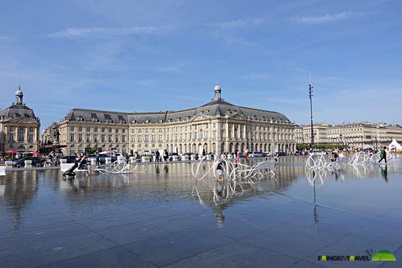 bordeaux itinerario centro città la bourse