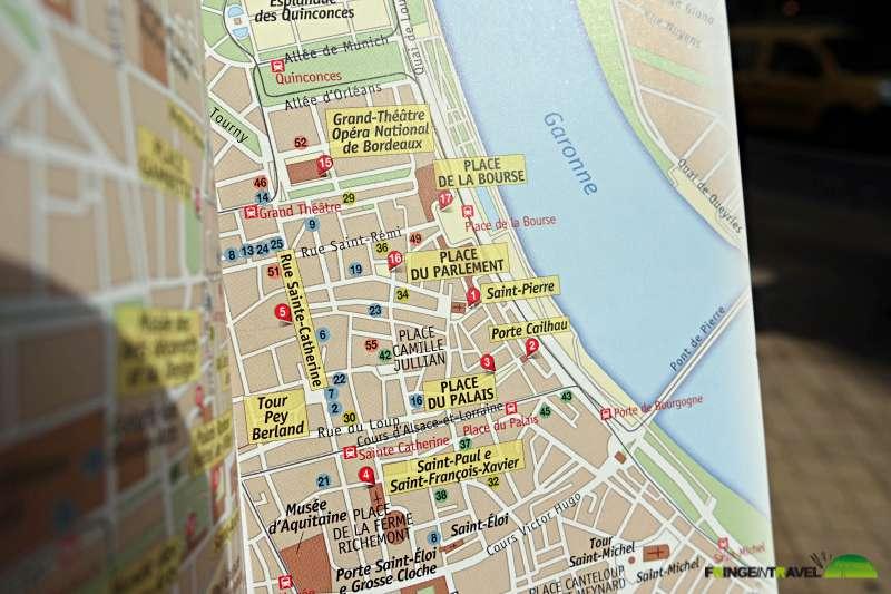 bordeaux itinerario centro città18 mappa