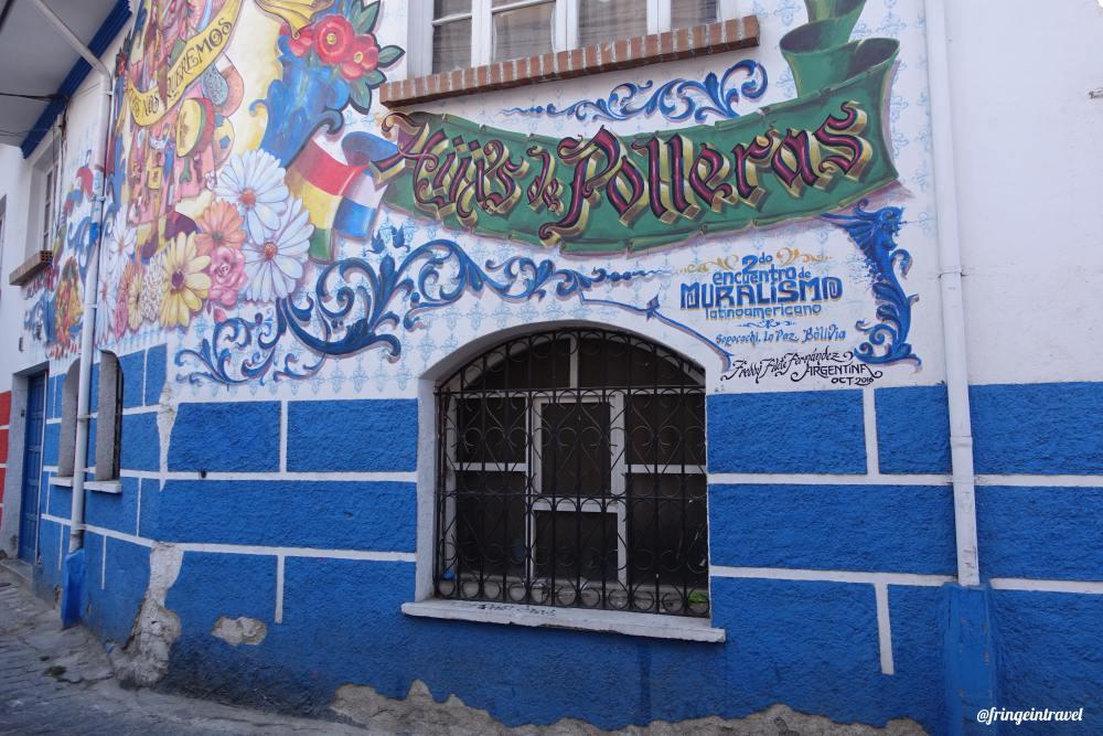 come visitare la Bolivia murales la paz