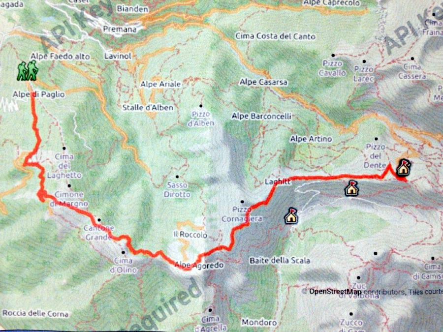 mappa trekking vicino milano rifugio disolin - santa rita11
