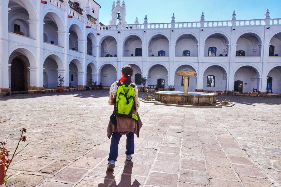 in autobus in bolivia la paz sucre