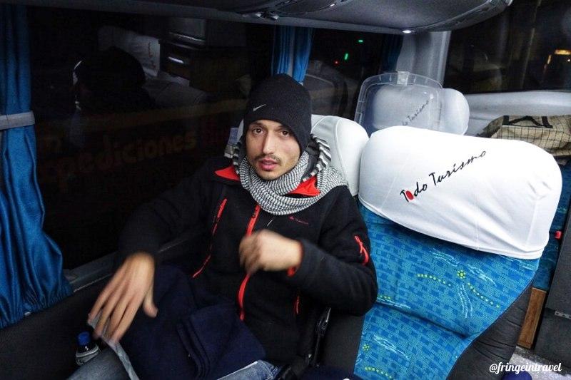 in autobus in bolivia la paz sucre5