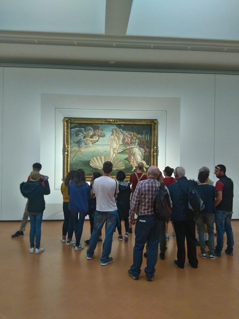 Musei uffizi nascita venere Botticelli