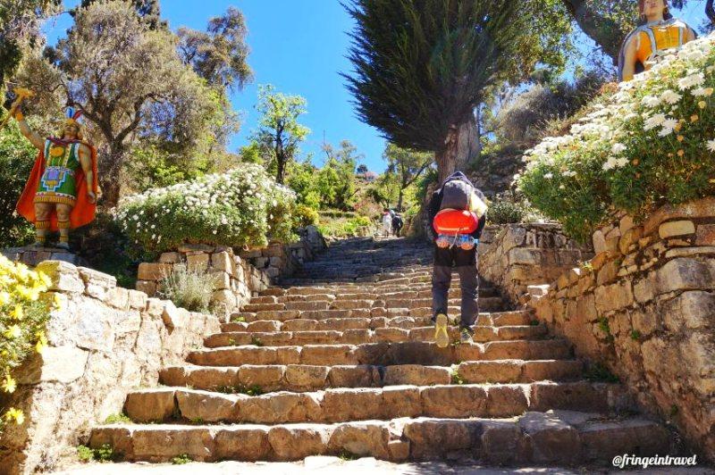 Lago Titicaca Bolivia Escalera Inca