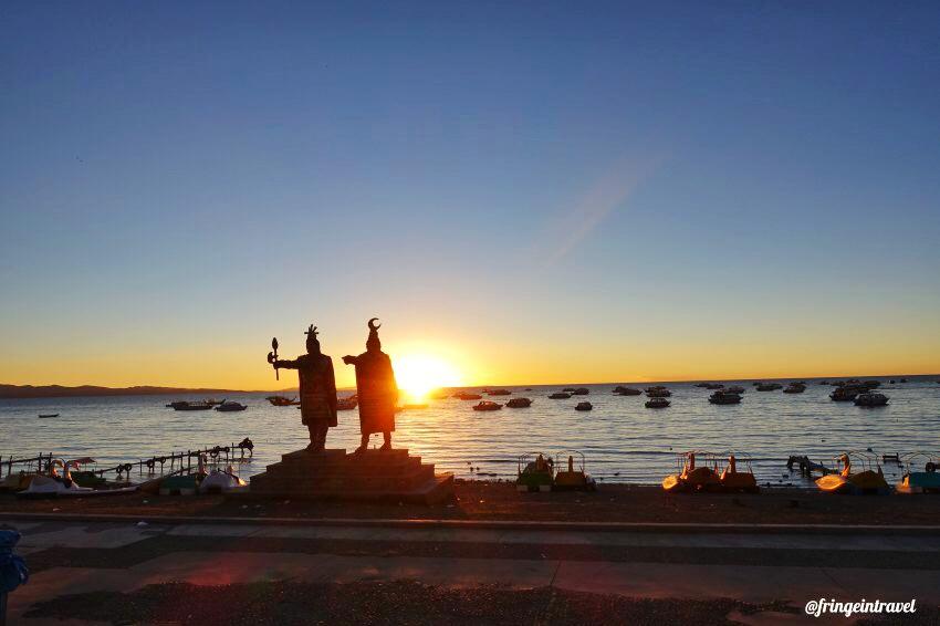 lago titicaca bolivia tramonto