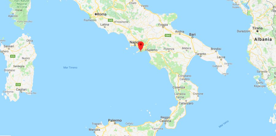 Praiano Mappa