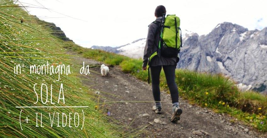 in montagna da sola