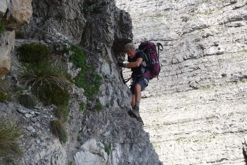 alta via delle dolomiti ferrata marmol