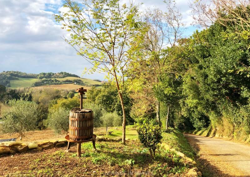 Sentiero di Paolo e Francesca Gradara paesaggio