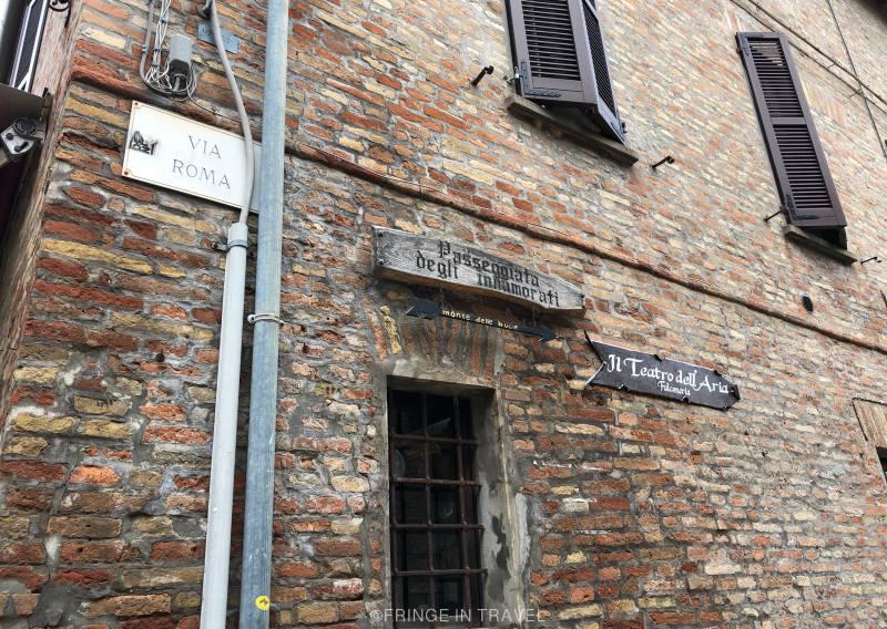 Sentiero di Paolo e Francesca degli innamorati inizio Gradara2
