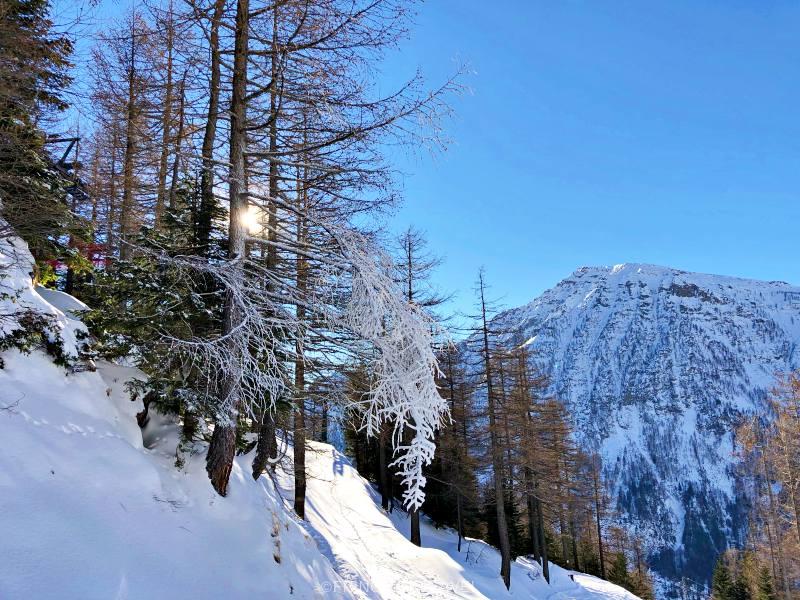 San Domenico paesaggio con neve