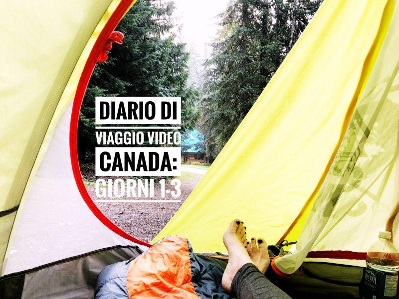 cover diario di viaggio canada video 1