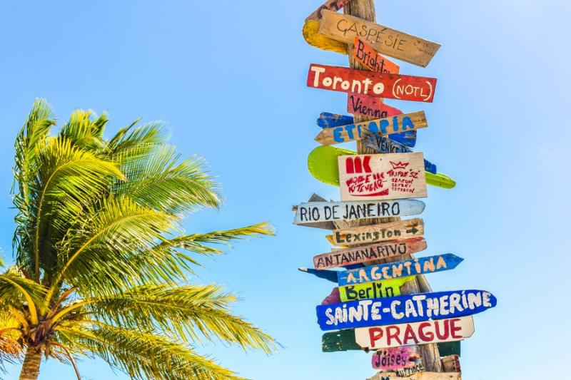 Come organizzare un viaggio internazionale1 cartelli