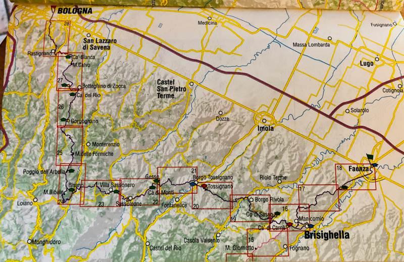 mappa cammino preistorico