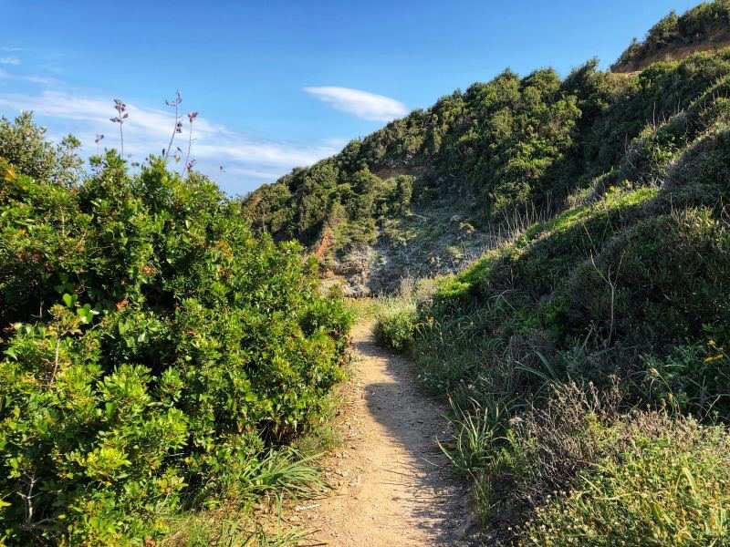 Percorso sentiero dei Doganieri