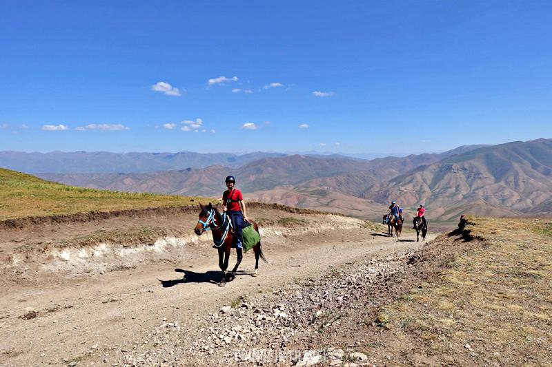 Cavalli trekking Kirghizistan Lago Song Kol