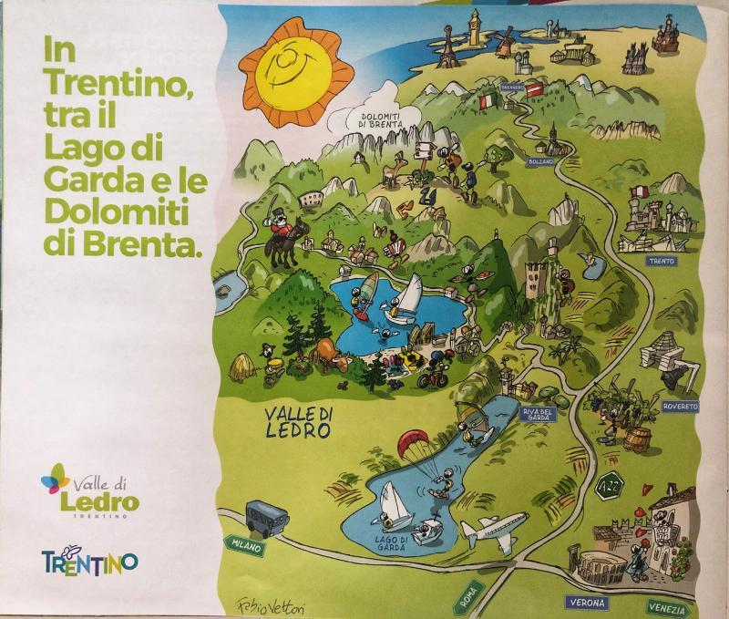 Mappa Valle Ledro Ente