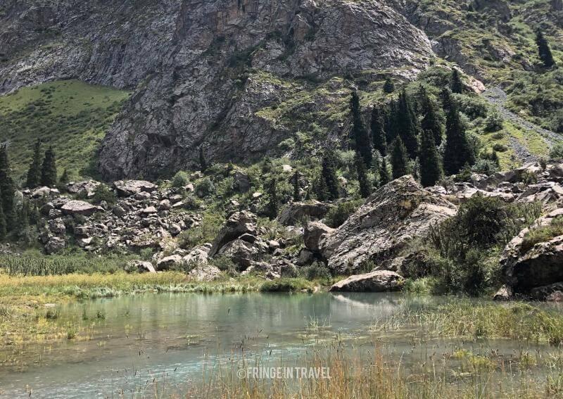 Paesaggio montano Kirghizistan