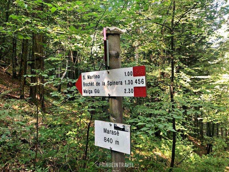 segnaletica valle di Ledro