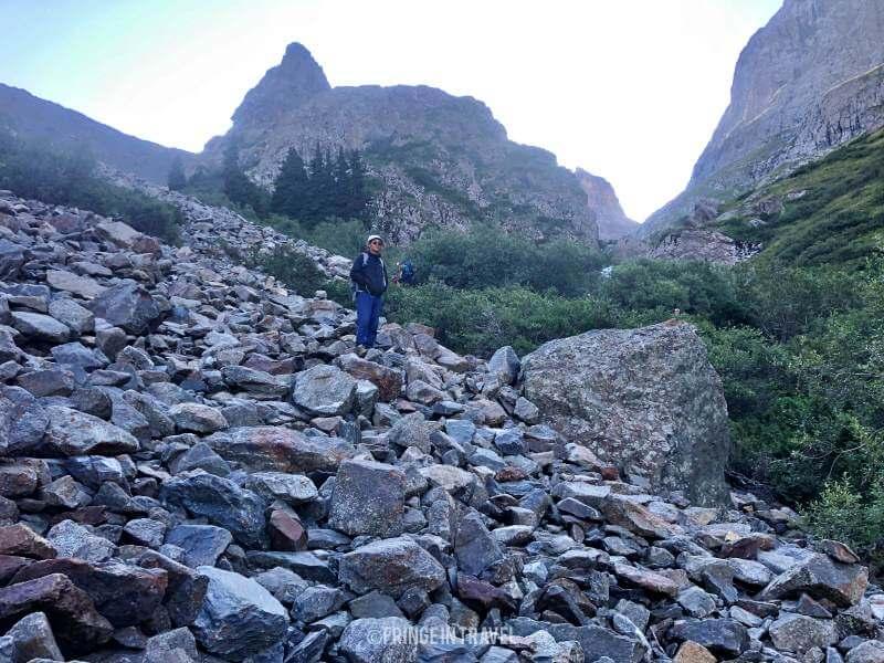 Hike Aka kol Lake Kirghizistan