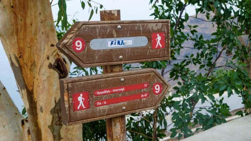 segnali trekking santorini foto4